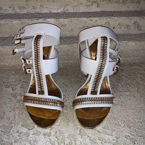 Tom Ford White zippier Sandal